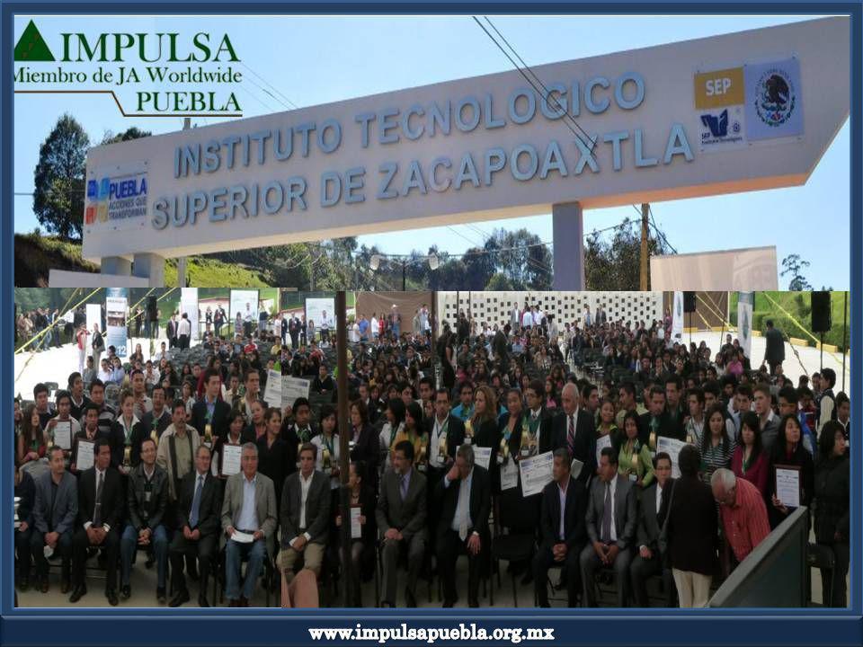 El sábado 08 de Septiembre, IMPULSA Puebla llevó a cabo la Ceremonia de Entrega de Reconocimientos del Programa Formación Regional de Emprendedores, ciclo 2012.