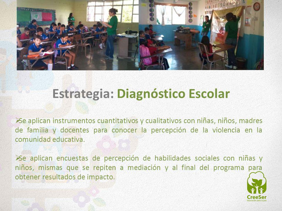 Se aplican instrumentos cuantitativos y cualitativos con niñas, niños, madres de familia y docentes para conocer la percepción de la violencia en la c
