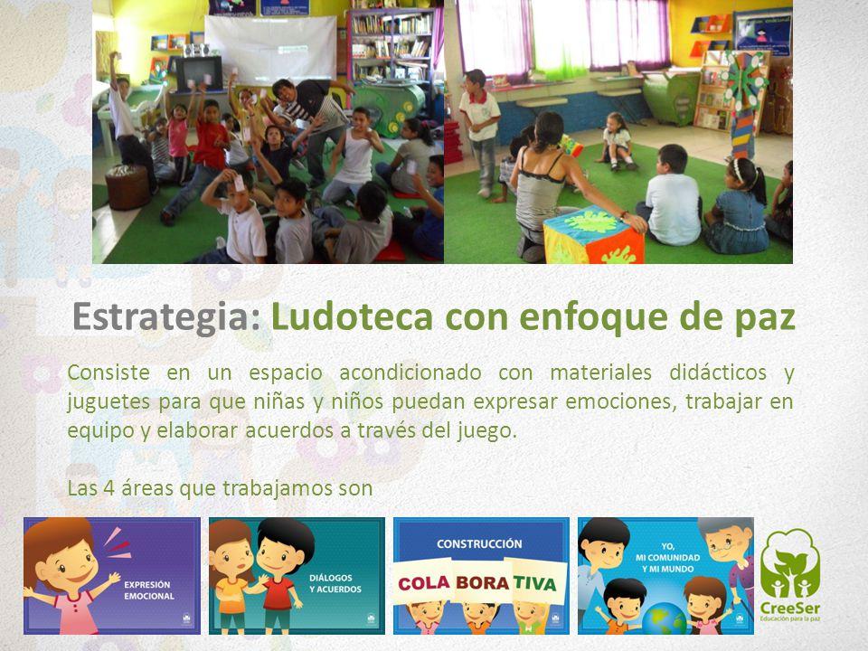 Consiste en un espacio acondicionado con materiales didácticos y juguetes para que niñas y niños puedan expresar emociones, trabajar en equipo y elabo