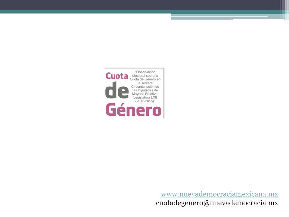 www.nuevademocraciamexicana.mx cuotadegenero@nuevademocracia.mx