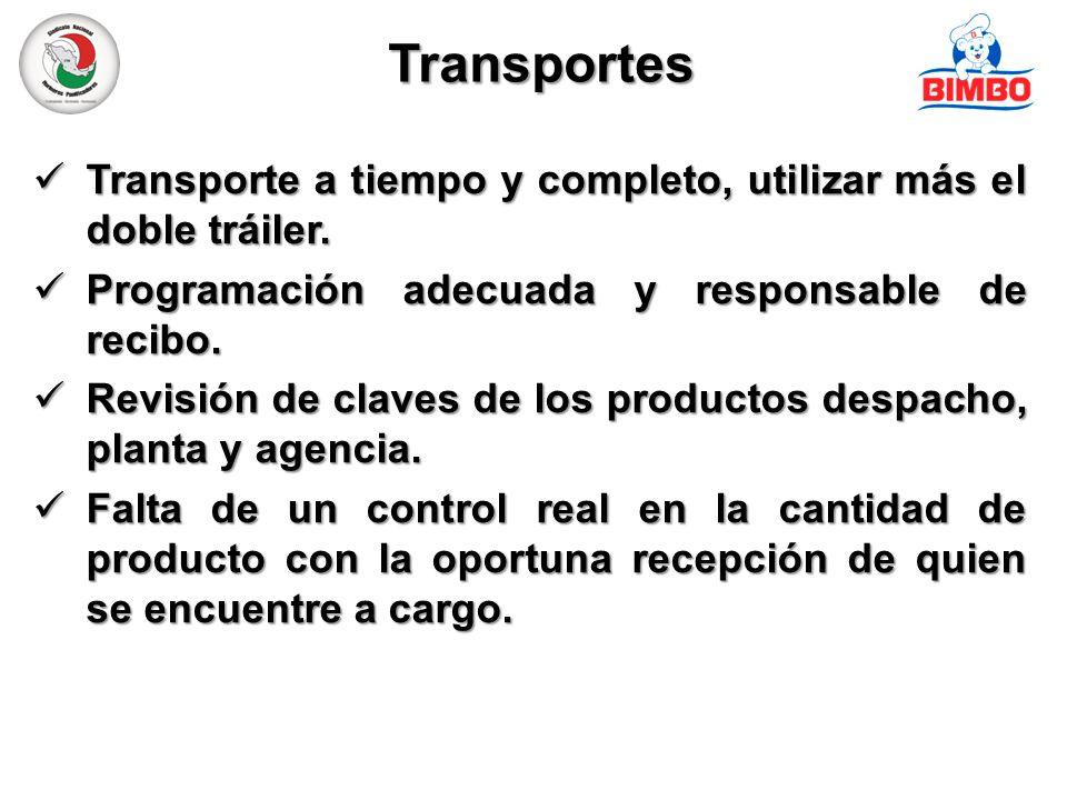 Transportes Transporte a tiempo y completo, utilizar más el doble tráiler.