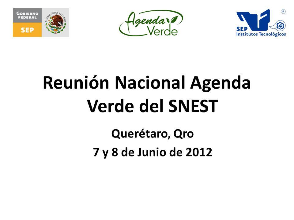 Reunión Nacional Agenda Verde del SNEST Querétaro, Qro 7 y 8 de Junio de 2012