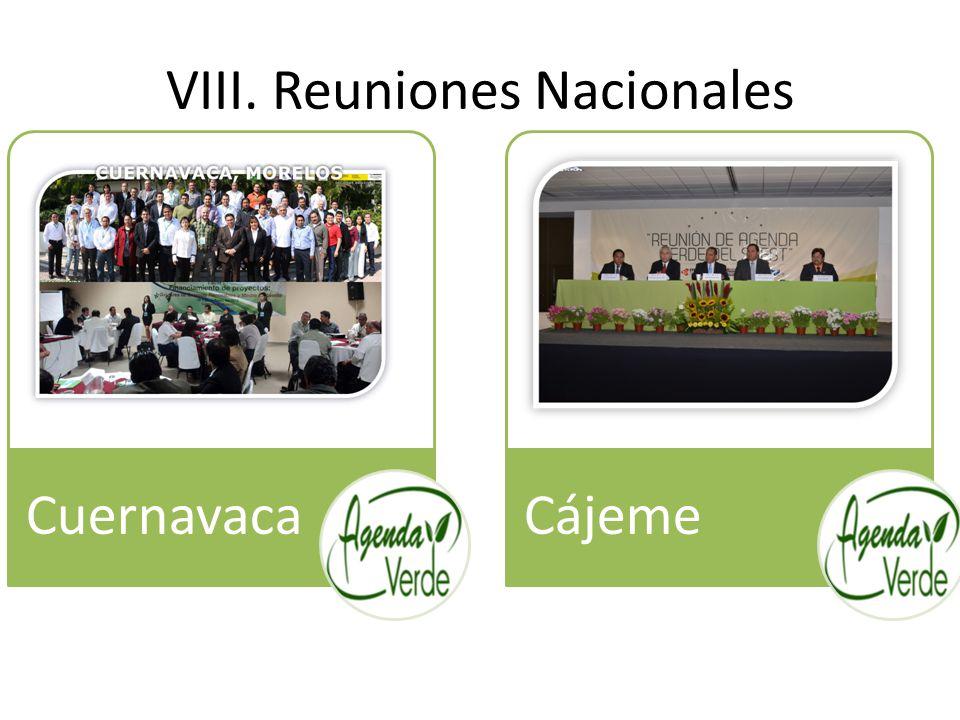 VIII. Reuniones Nacionales CuernavacaCájeme