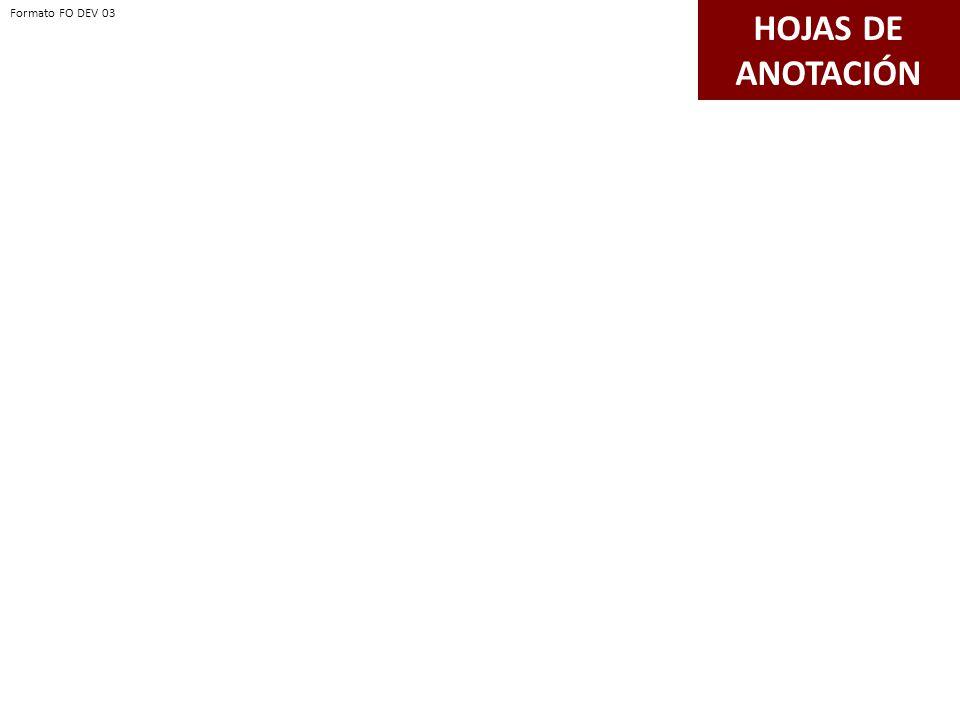 HOJAS DE ANOTACIÓN Formato FO DEV 03