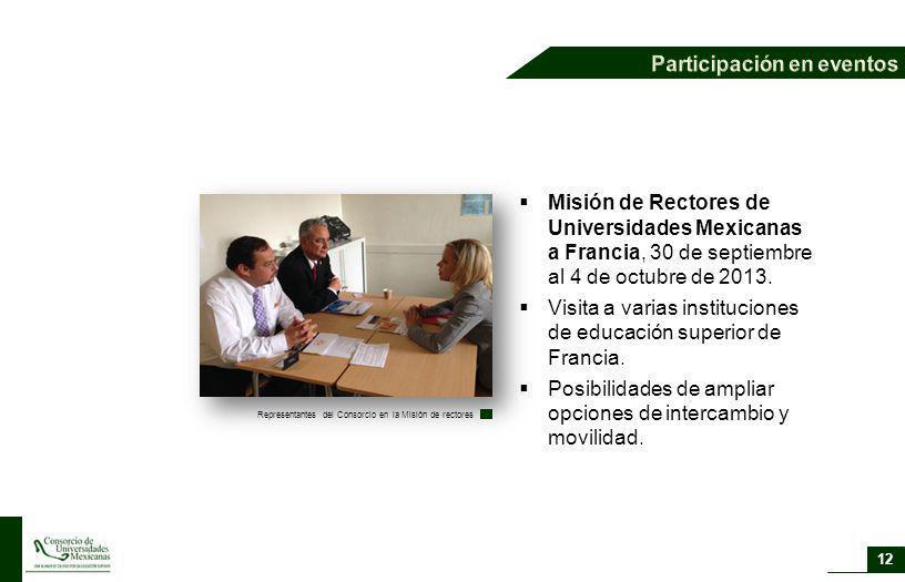 12 Misión de Rectores de Universidades Mexicanas a Francia, 30 de septiembre al 4 de octubre de 2013. Visita a varias instituciones de educación super