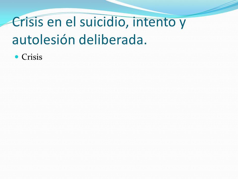 Evolución del intento de suicidio y la autolesión deliberada.
