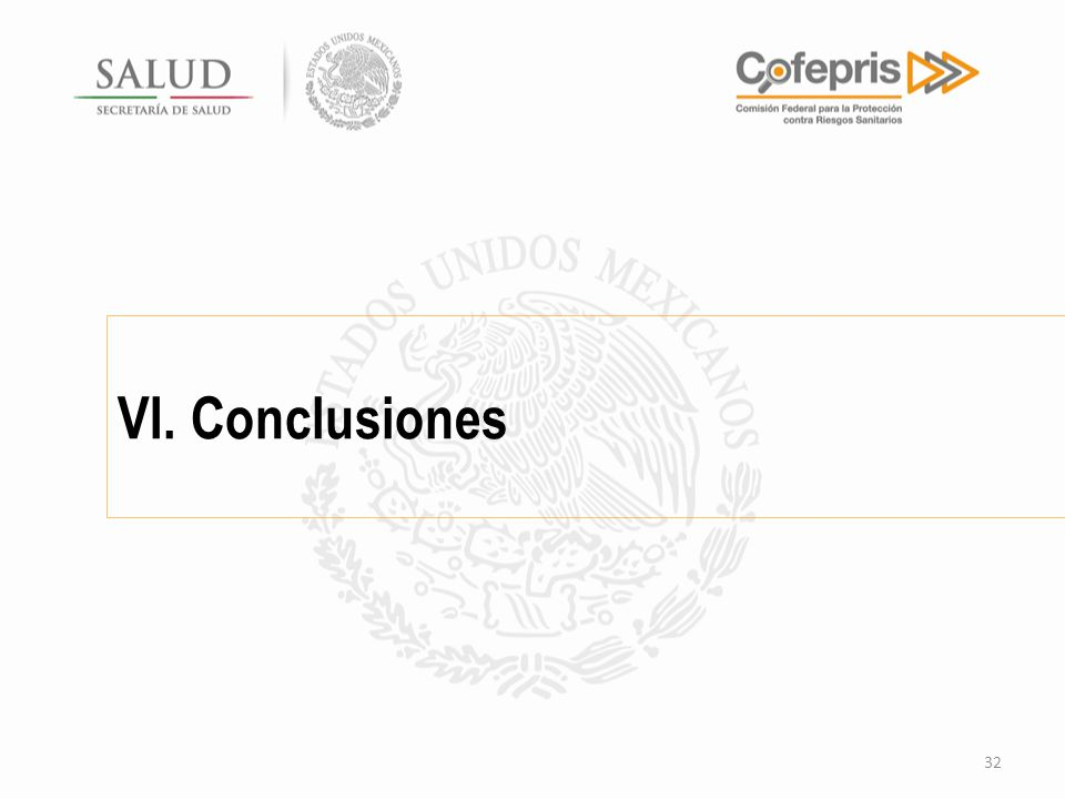 VI. Conclusiones 32