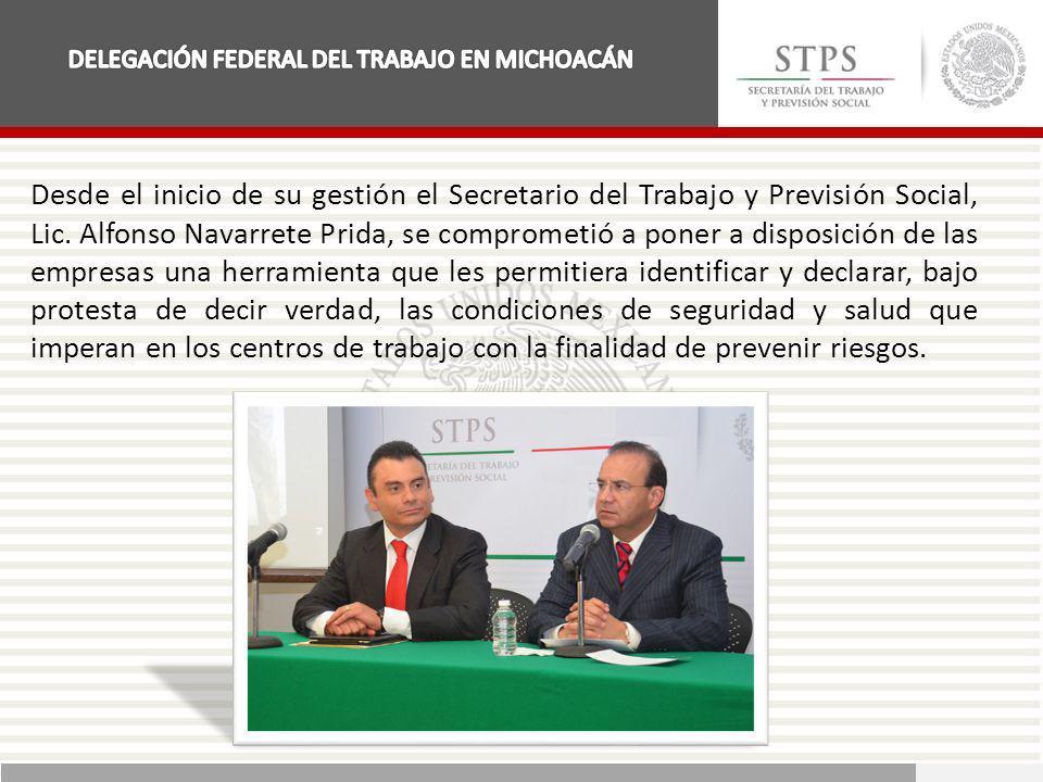 Desde el inicio de su gestión el Secretario del Trabajo y Previsión Social, Lic. Alfonso Navarrete Prida, se comprometió a poner a disposición de las