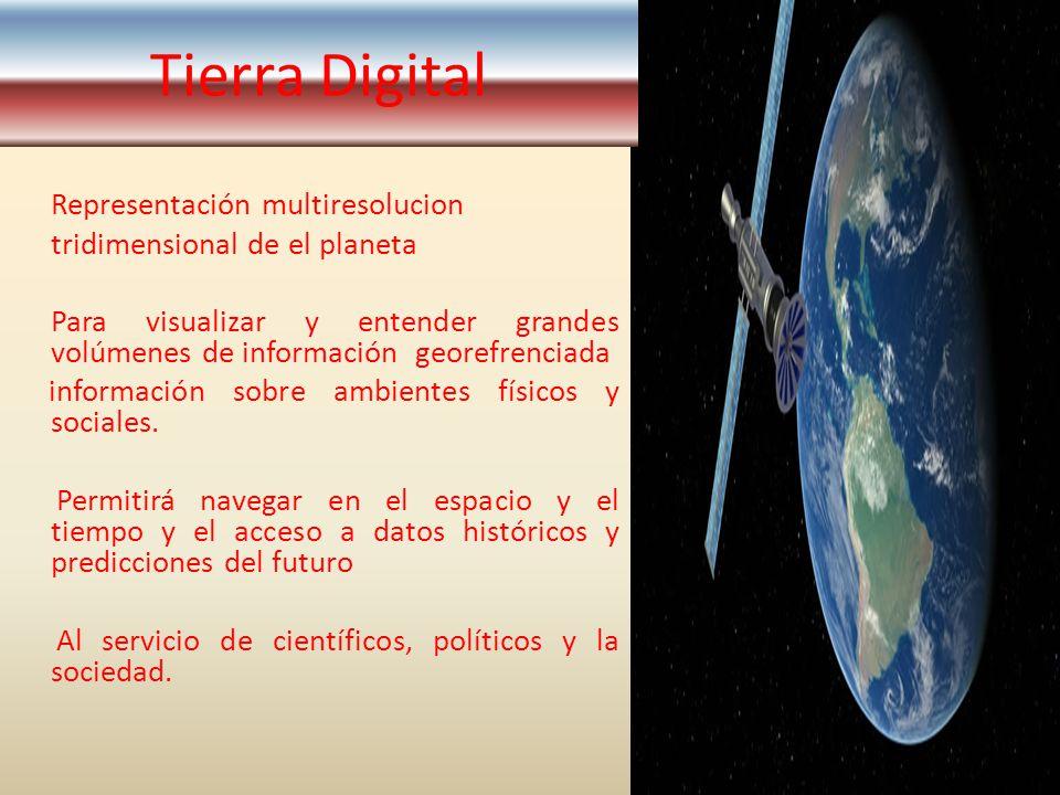Representación multiresolucion tridimensional de el planeta Para visualizar y entender grandes volúmenes de información georefrenciada información sob
