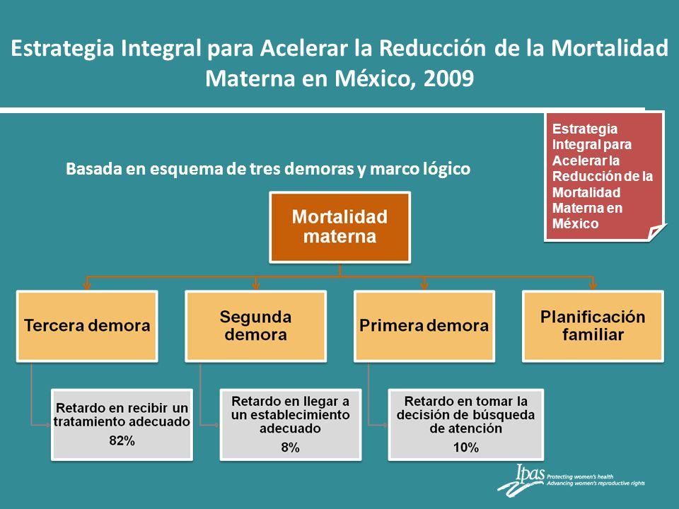 Estrategia Integral para Acelerar la Reducción de la Mortalidad Materna en México, 2009 Estrategia Integral para Acelerar la Reducción de la Mortalida