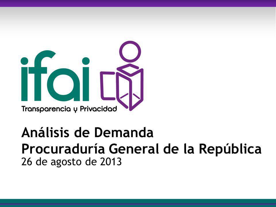 Análisis de Demanda Procuraduría General de la República 26 de agosto de 2013