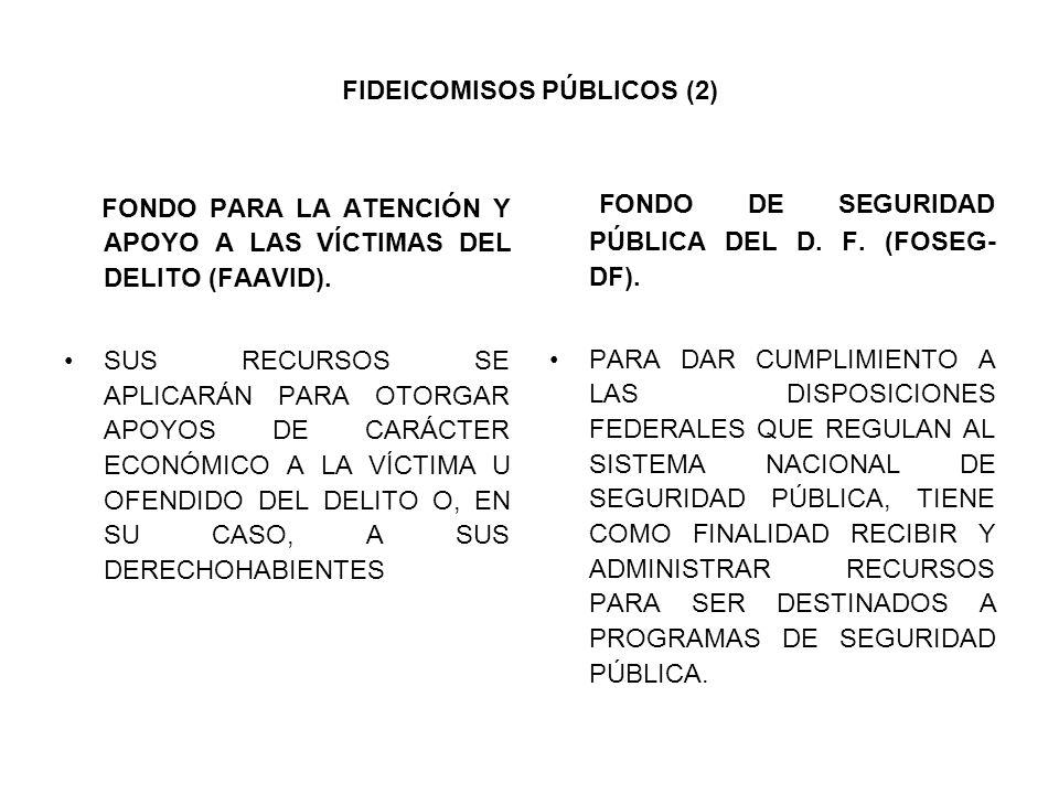 FONDO PARA LA ATENCIÓN Y APOYO A LAS VÍCTIMAS DEL DELITO (FAAVID).