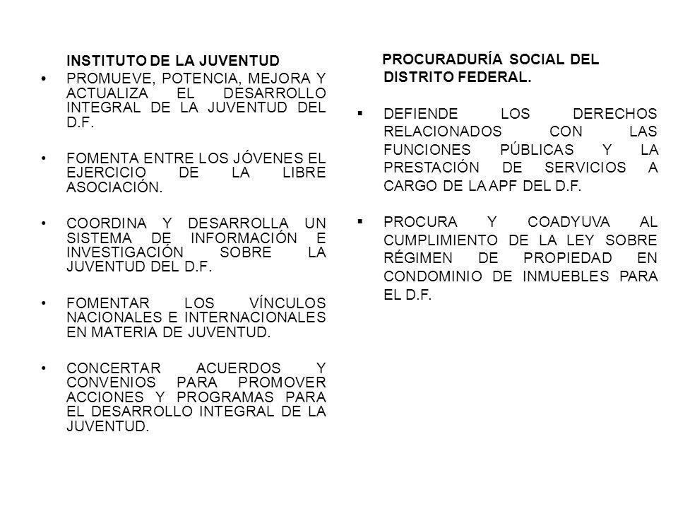 INSTITUTO DE LA JUVENTUD PROMUEVE, POTENCIA, MEJORA Y ACTUALIZA EL DESARROLLO INTEGRAL DE LA JUVENTUD DEL D.F.