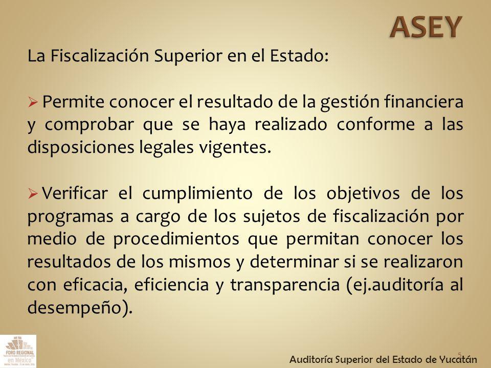 La Fiscalización Superior tiene por objeto establecer el sistema de fiscalización de los recursos públicos en el Estado de Yucatán, a través de los procedimientos previstos para la rendición de la cuenta pública.