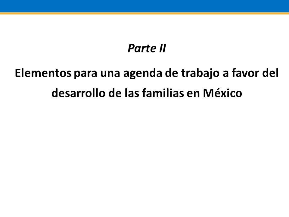 Parte II Elementos para una agenda de trabajo a favor del desarrollo de las familias en México