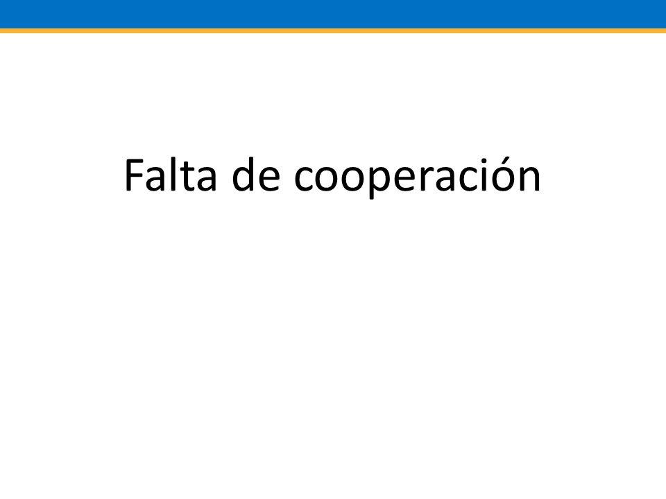Falta de cooperación