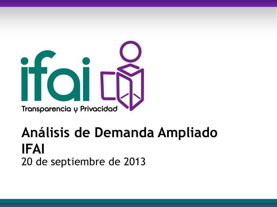 Análisis de Demanda Ampliado IFAI 20 de septiembre de 2013