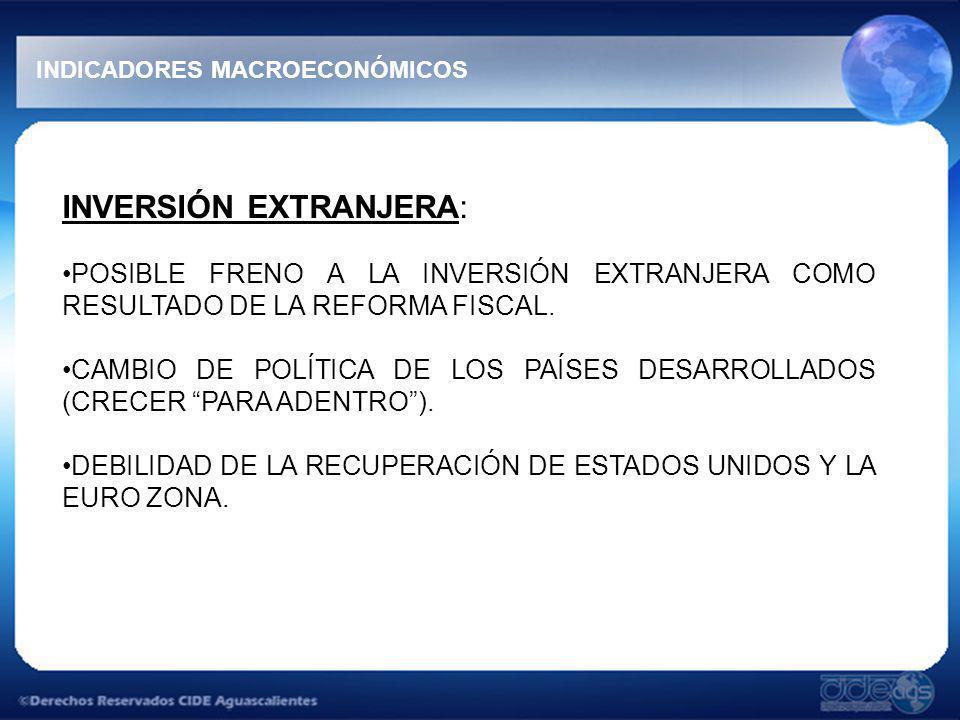 INVERSIÓN EXTRANJERA: POSIBLE FRENO A LA INVERSIÓN EXTRANJERA COMO RESULTADO DE LA REFORMA FISCAL.