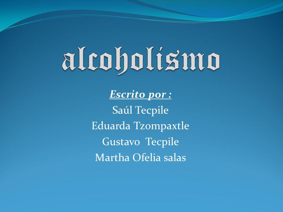 ¿ Que es el alcoholismo.