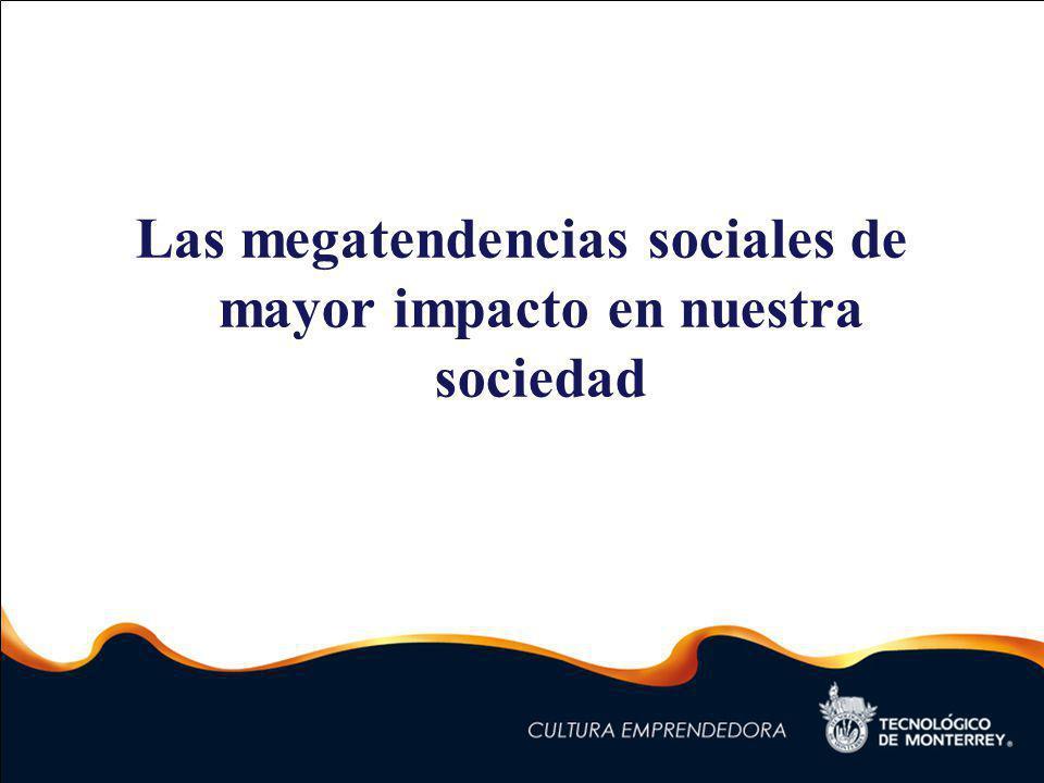 Las megatendencias sociales de mayor impacto en nuestra sociedad