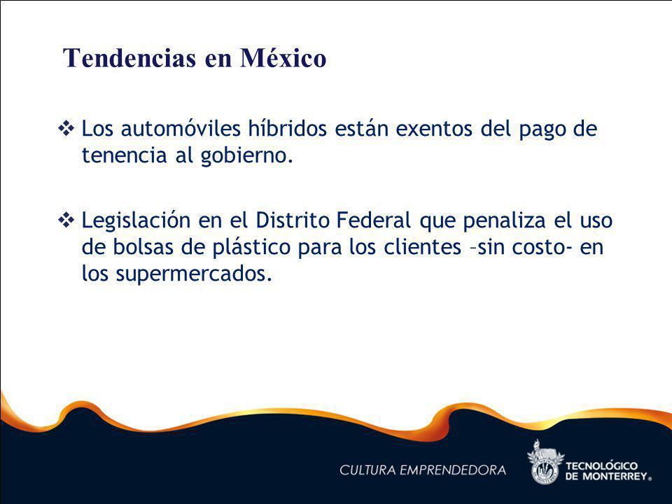 Tendencias en México Los automóviles híbridos están exentos del pago de tenencia al gobierno.