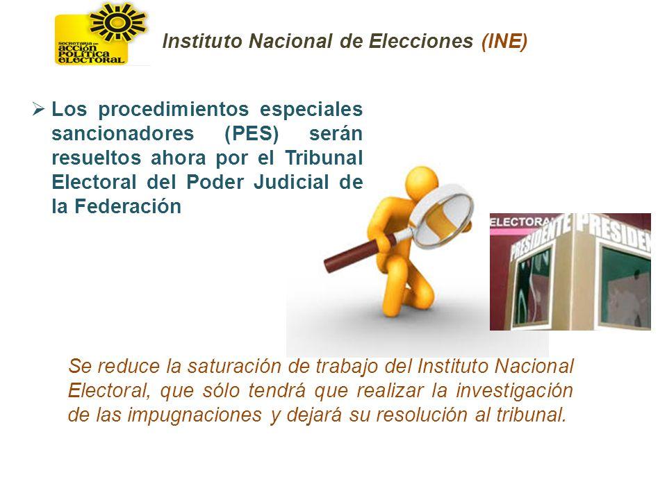 Se reduce la saturación de trabajo del Instituto Nacional Electoral, que sólo tendrá que realizar la investigación de las impugnaciones y dejará su re