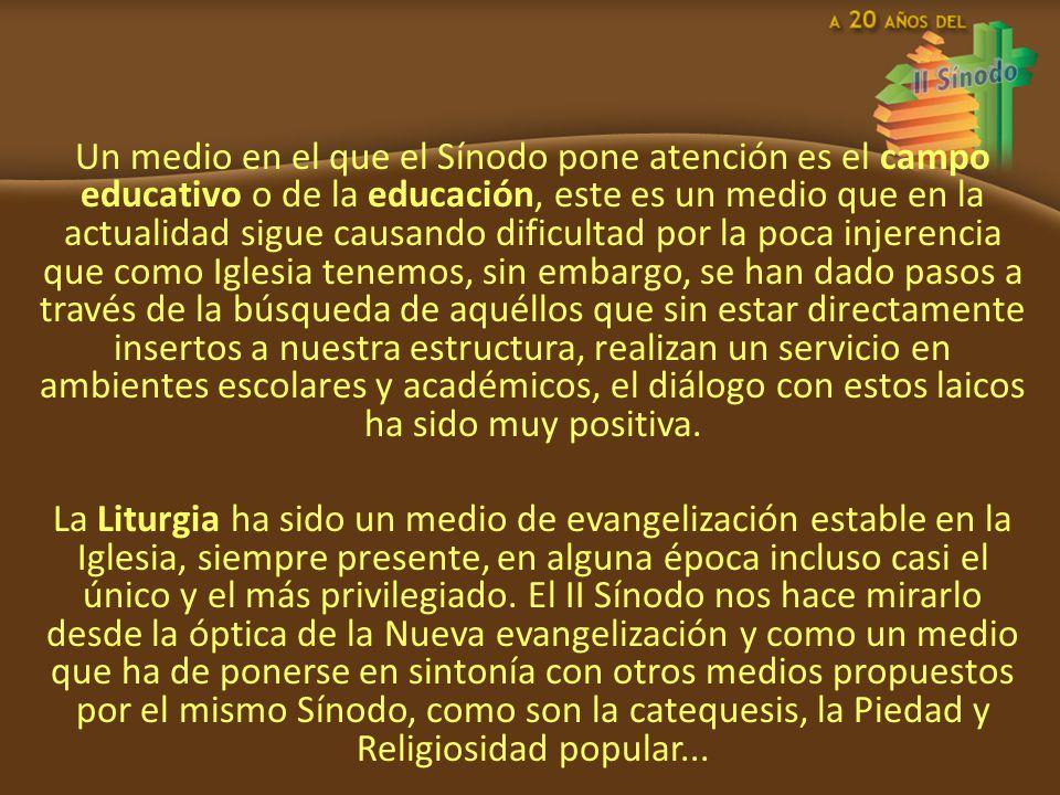En Sintonía con la Liturgia el Sínodo presenta a los Sacramentos de la Iniciación Cristina.
