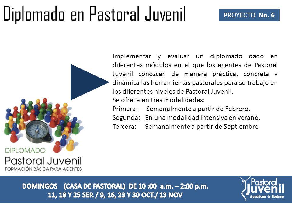 Taller para Asesores Laicos de Pastoral Juvenil.PROYECTO No.