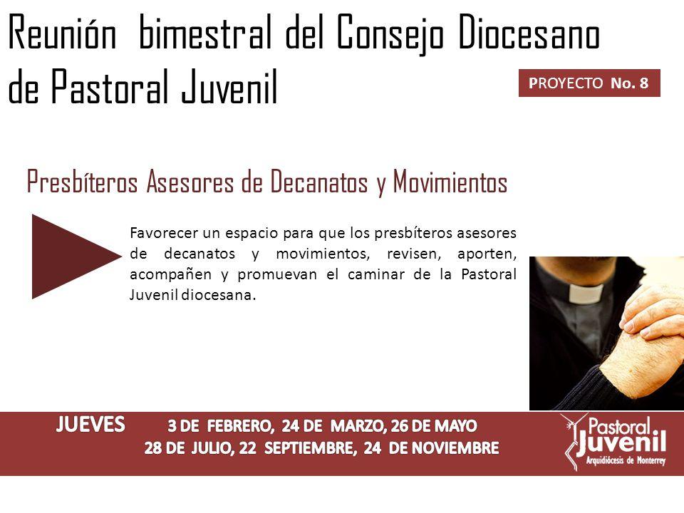 Reunión del Consejo Diocesano de Pastoral Juvenil PROYECTO No.