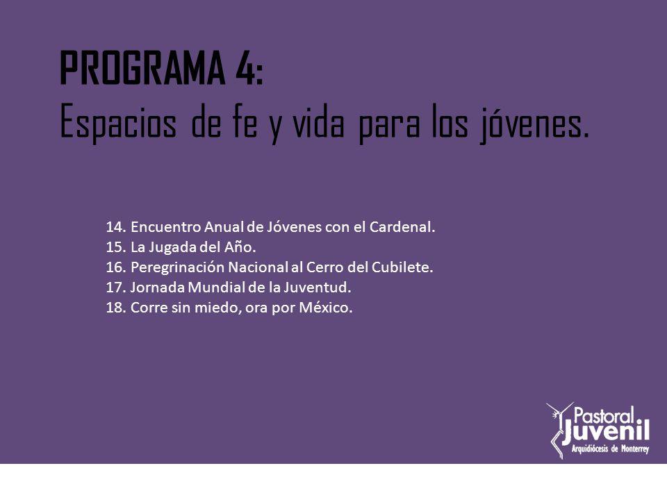 Encuentro anual del Cardenal con los jóvenes PROYECTO No.