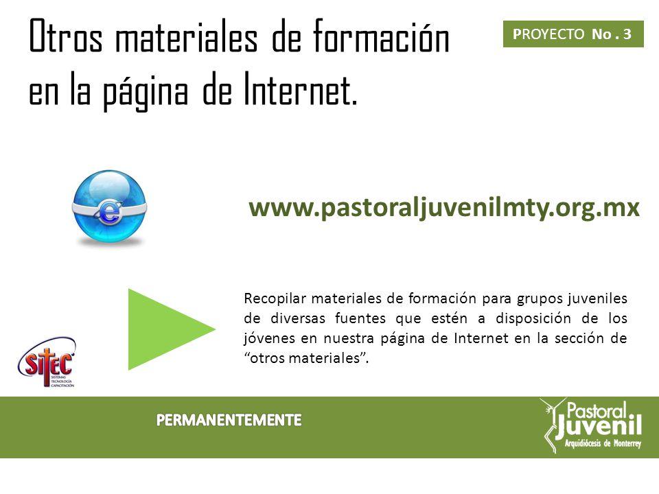 Mantenimiento de la página de internet PROYECTO No.