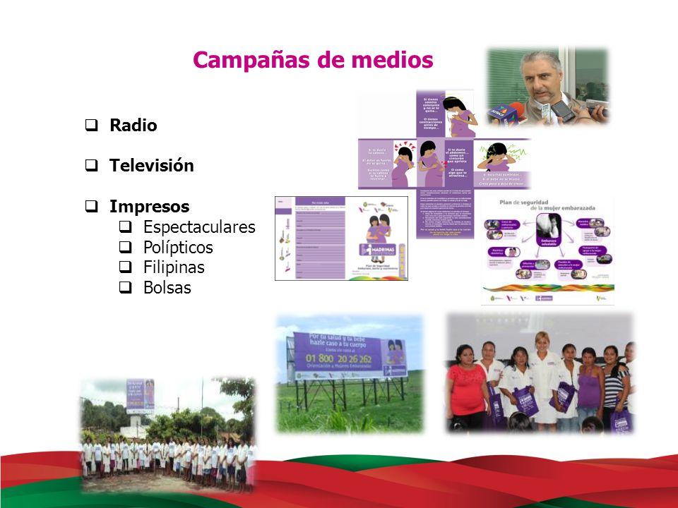 Existe un trabajo permanente con 73 estaciones de radio de la entidad, las cuales hacen una transmisión de aproximadamente 700 impactos diarios.