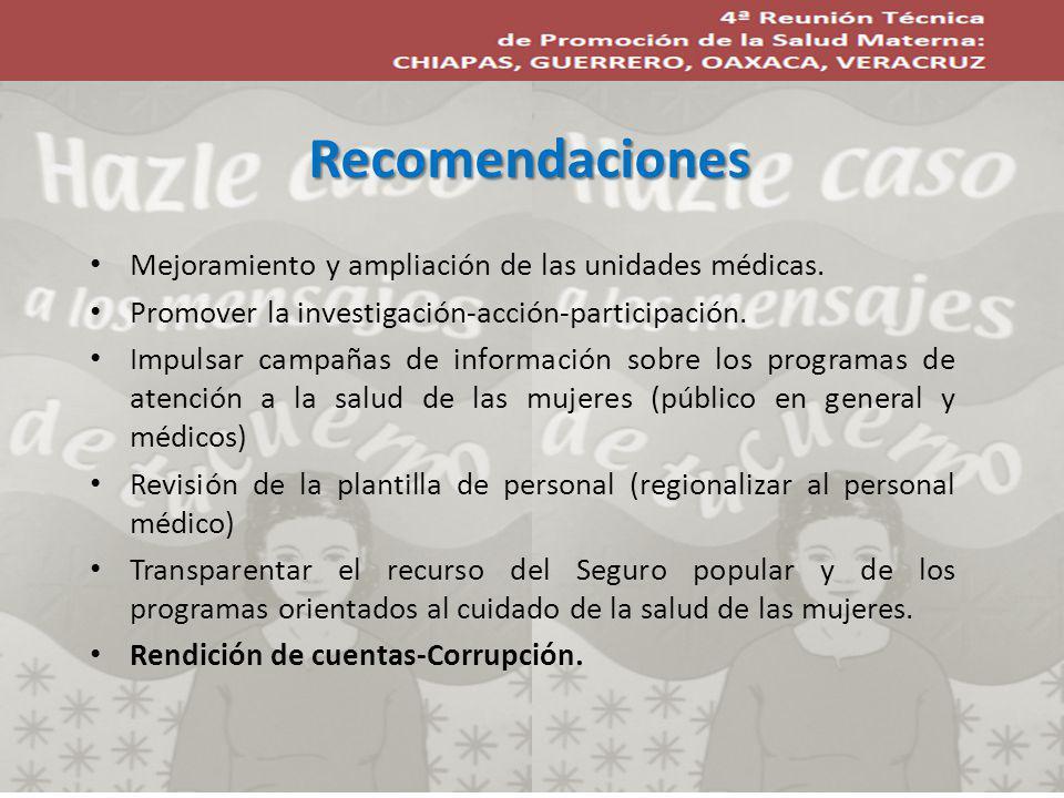 Mejoramiento y ampliación de las unidades médicas.