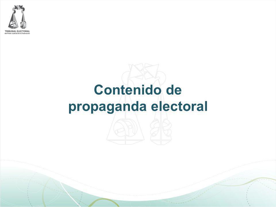 Contenido de propaganda electoral