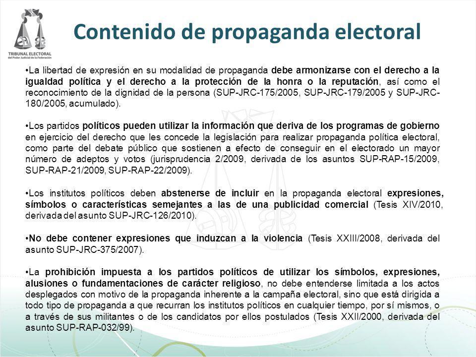 La libertad de expresión en su modalidad de propaganda debe armonizarse con el derecho a la igualdad política y el derecho a la protección de la honra