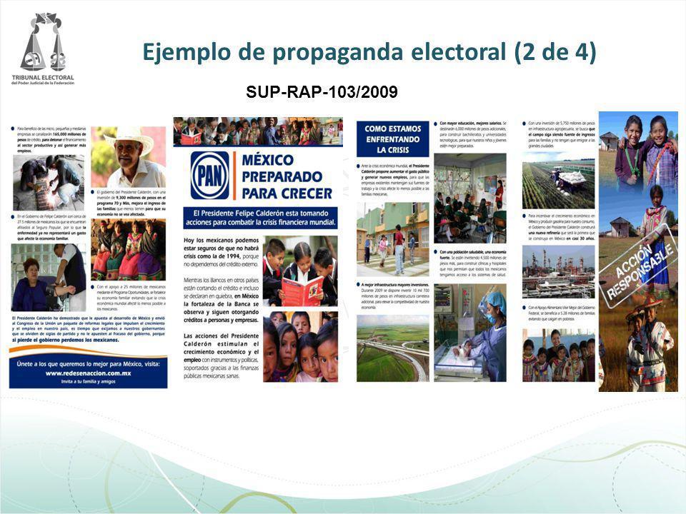 SUP-RAP-103/2009 Ejemplo de propaganda electoral (2 de 4)