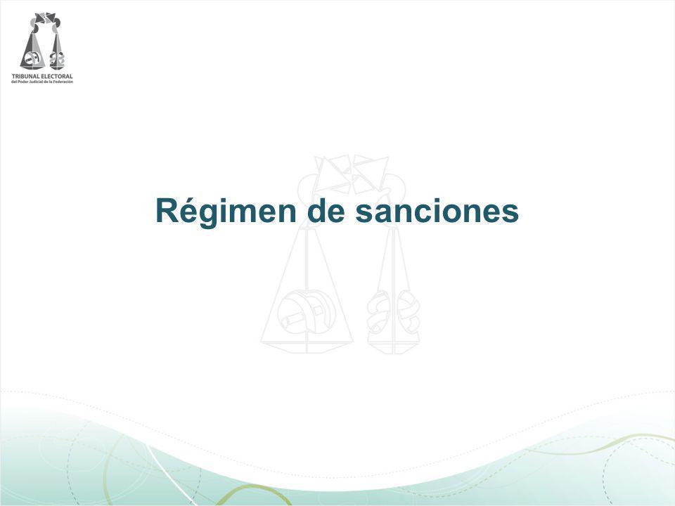 Régimen de sanciones