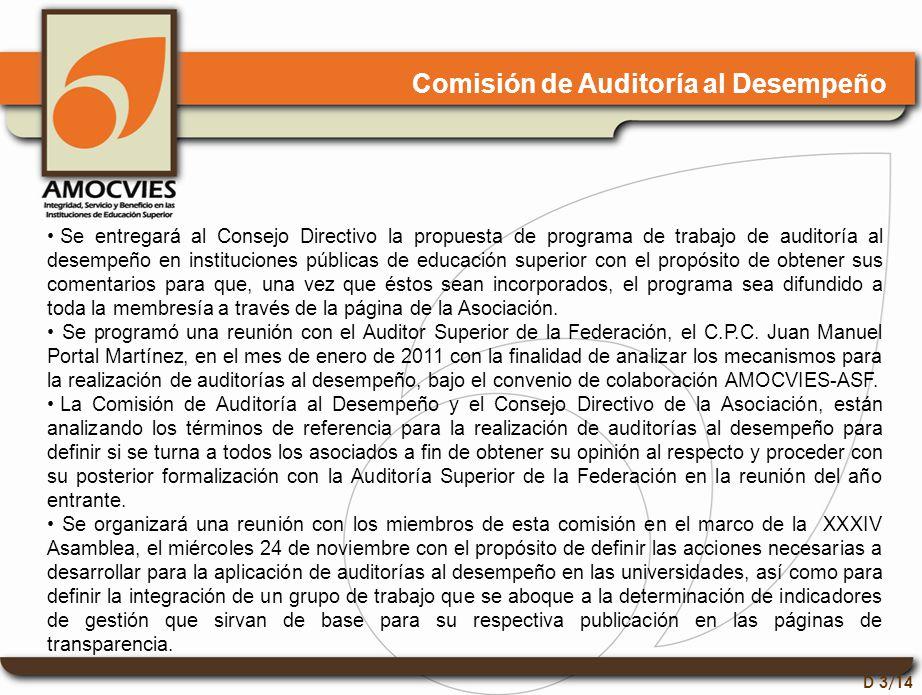 D 4/14 Comisión de Asuntos Fiscales Se continúa asesorando a las instituciones que así lo solicitan, como fue el caso de la Universidad de Tlaxcala, a la que se le proporcionó información acerca de las facturas electrónicas y la declaración informativa.