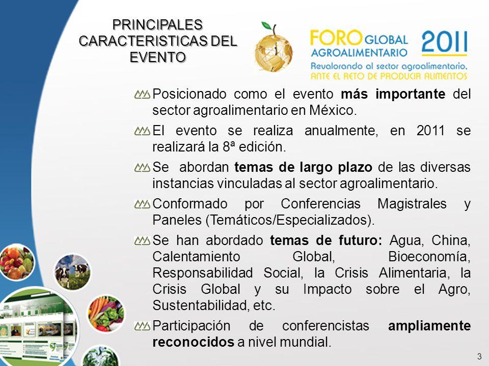 3 Posicionado como el evento más importante del sector agroalimentario en México. El evento se realiza anualmente, en 2011 se realizará la 8ª edición.
