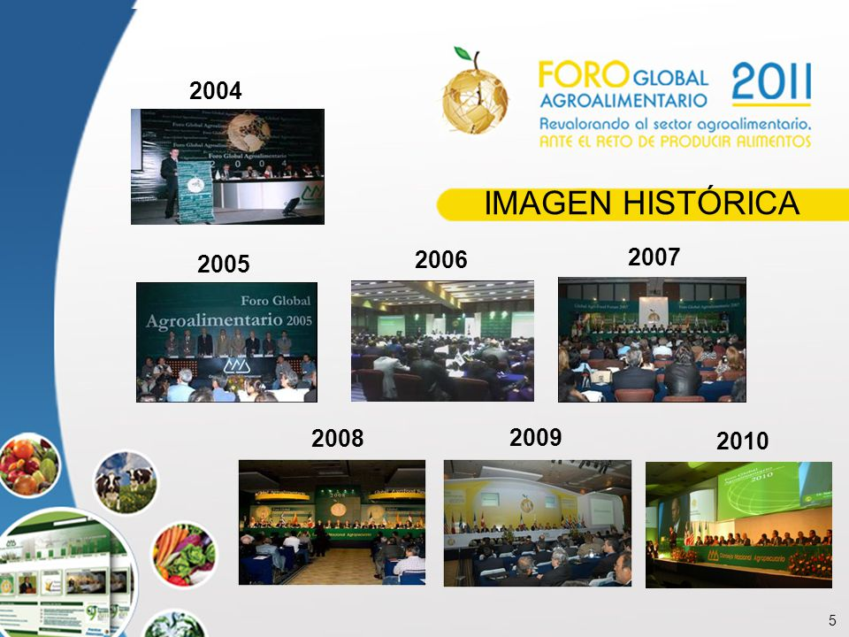 5 IMAGEN HISTÓRICA 2004 2005 2006 2007 2008 2009 2010