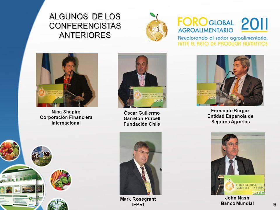 9 Óscar Guillermo Garretón Purcell Fundación Chile Nina Shapiro Corporación Financiera Internacional Fernando Burgaz Entidad Española de Seguros Agrar