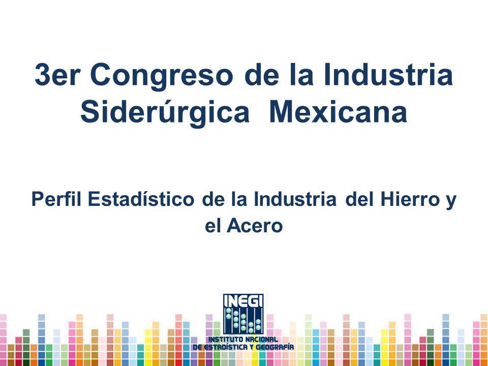 3er Congreso de la Industria Siderúrgica Mexicana Perfil Estadístico de la Industria del Hierro y el Acero