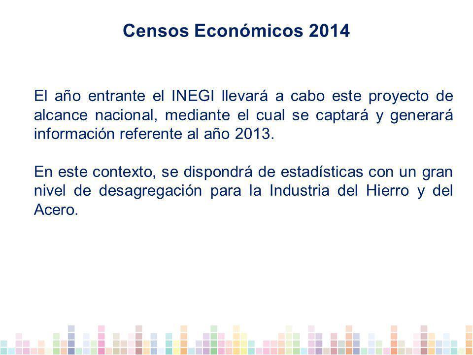 El año entrante el INEGI llevará a cabo este proyecto de alcance nacional, mediante el cual se captará y generará información referente al año 2013.
