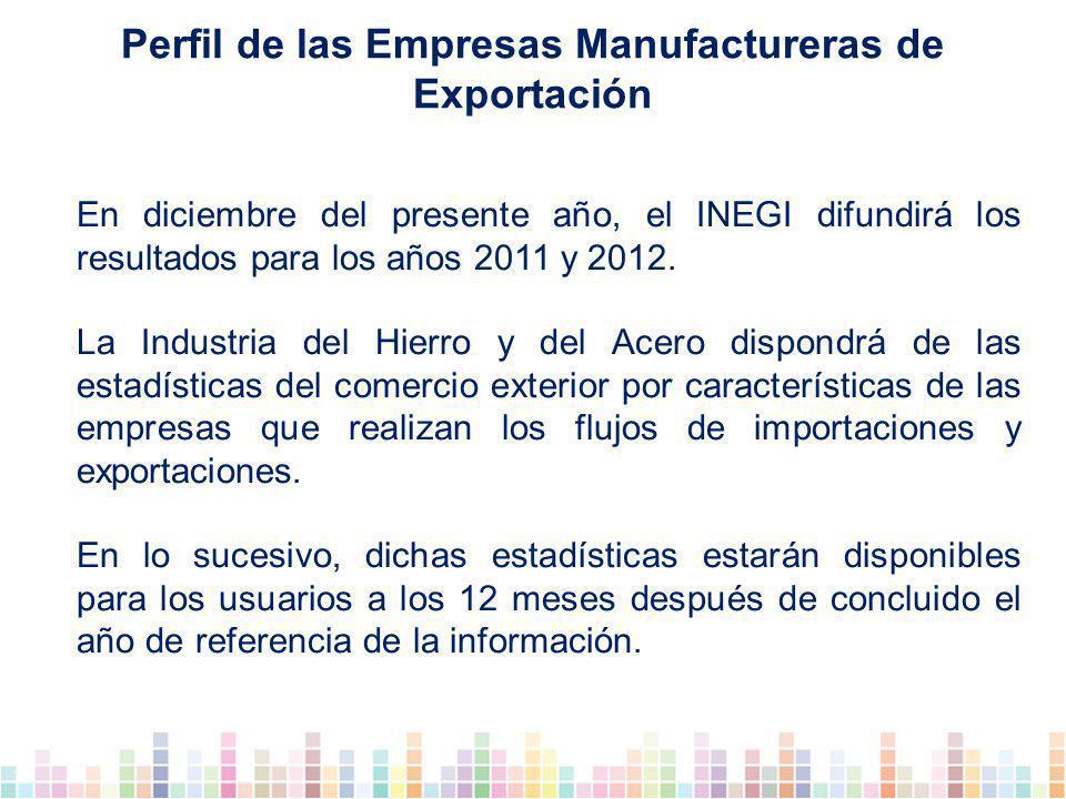 En diciembre del presente año, el INEGI difundirá los resultados para los años 2011 y 2012.