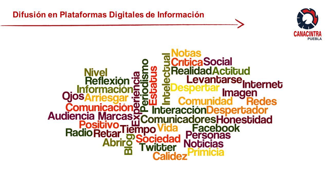 Difusión en Plataformas Digitales de Información