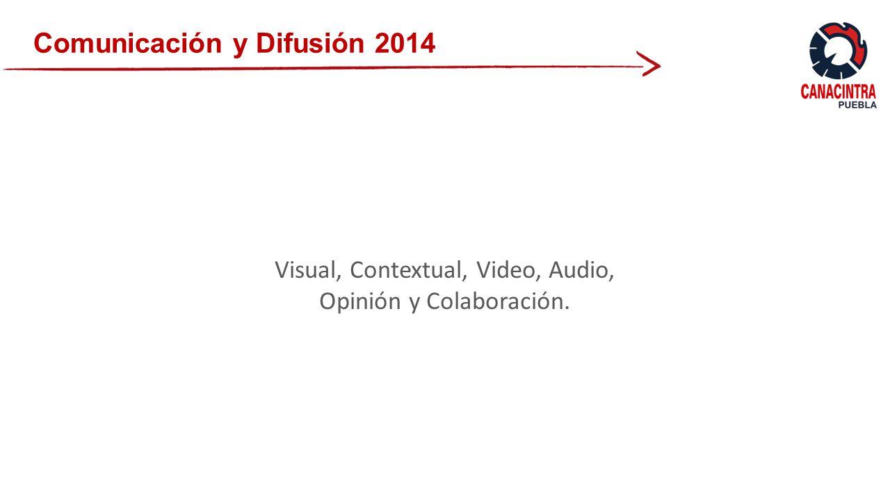 Comunicación y Difusión 2014 Visual, Contextual, Video, Audio, Opinión y Colaboración.