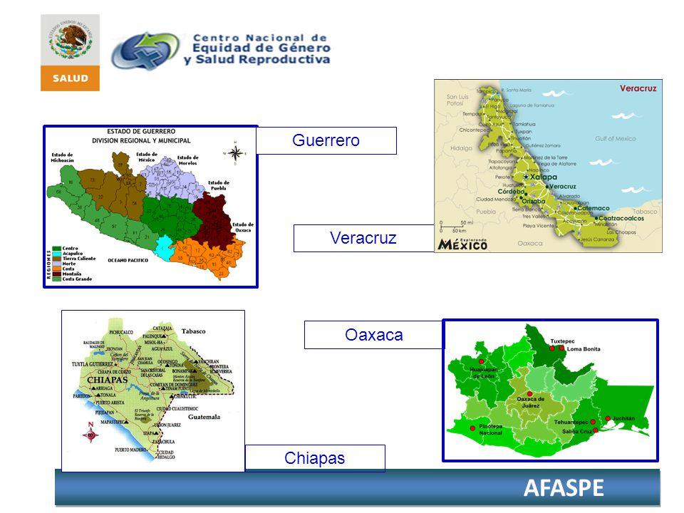 AFASPE Veracruz Guerrero Chiapas Oaxaca