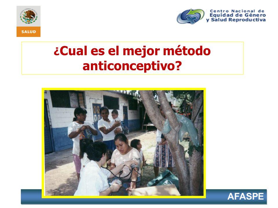 AFASPE ¿ Cual es el mejor método anticonceptivo?