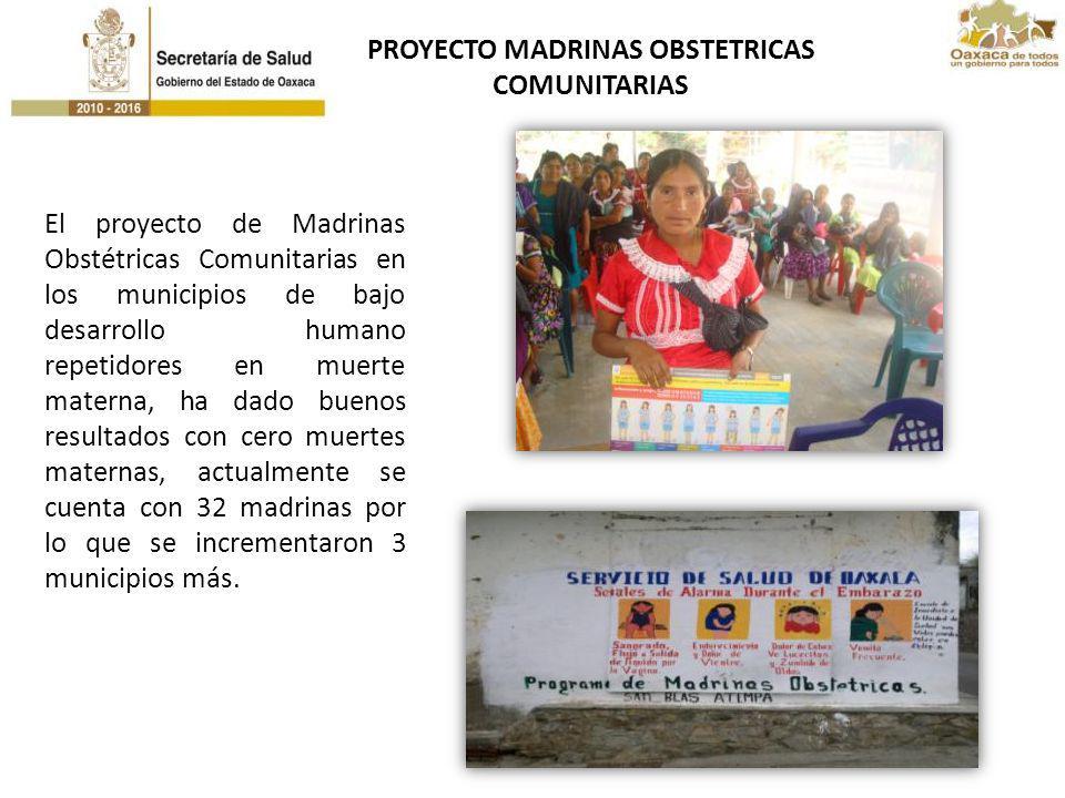 El proyecto de Madrinas Obstétricas Comunitarias en los municipios de bajo desarrollo humano repetidores en muerte materna, ha dado buenos resultados