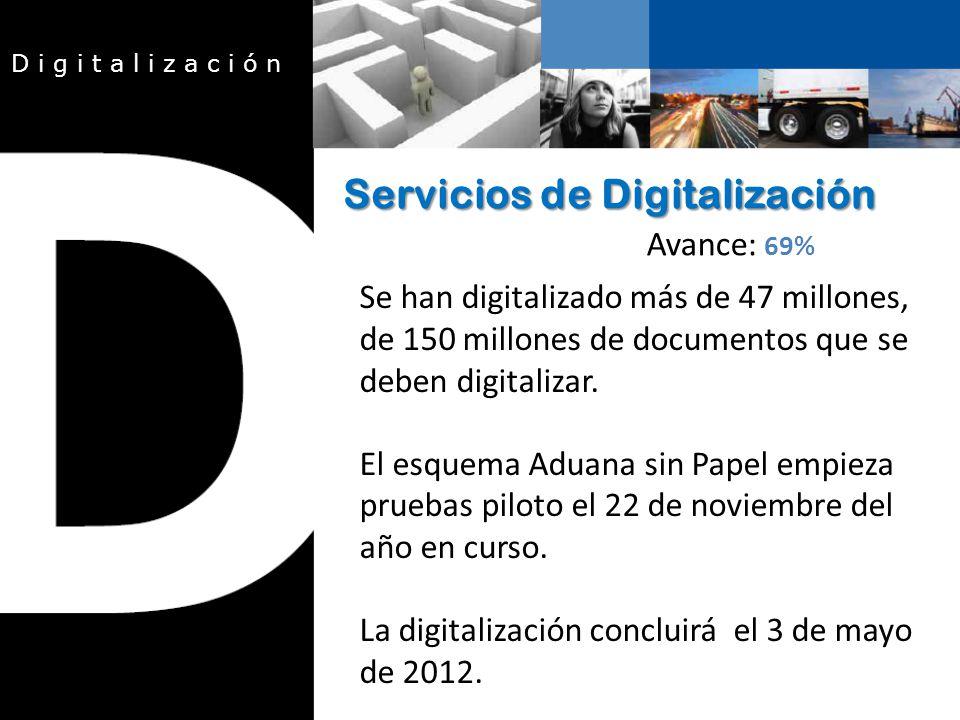 Se han digitalizado más de 47 millones, de 150 millones de documentos que se deben digitalizar.